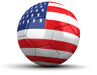 US flag-soccer ball