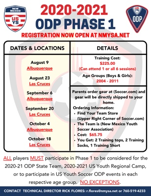 2020-21 ODP Phase 1 Flyer2